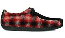 BNIB CLARKS ORIGINALS X NATALIE WALLABEE UK 9.5 US 10.5 EUR 43.5 RED CHECK WOOL