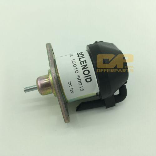 12V Shut off stop solenoid 1C010-60015 for Kubota Engine V3300  V3600