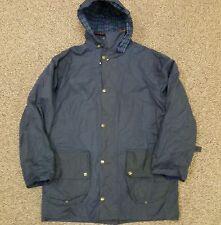 Ghillie Outerwear Waxed Cotton Jacket NEW XL Blue Hood Gardeners Eden Womens