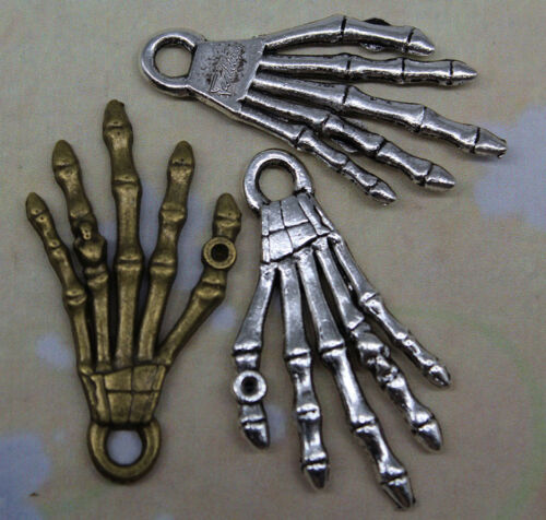 Free shipping retro style Hand bone alloy charms pendants 35*19mm