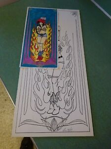 Details About Johnny Ace Original Art Lone Witch No Kar Klub Rat Fink Ed Big Daddy Roth
