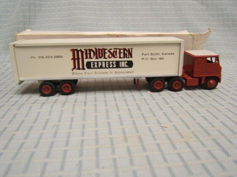 protección post-venta Winross del medio oeste Express Inc Inc Inc remolque de tractor 1 64 Diecast MIB  forma única