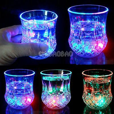 #gib Water Liquid Activated Glowing Wine Glass Party Cup Mug LED Flashing Light