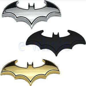 Chrom-Metall-Auto-Motorrad-Aufkleber-Bat-Batman-3D-Fluegel-Embleme-Sticker-GE