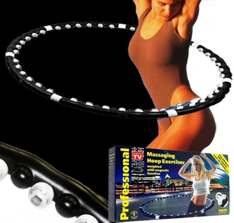 1 HULA HOOP PROFESSIONAL WEIGHTED MAGNETIC FITNESS EXERCISE MASSAGER ABS WORKOUT