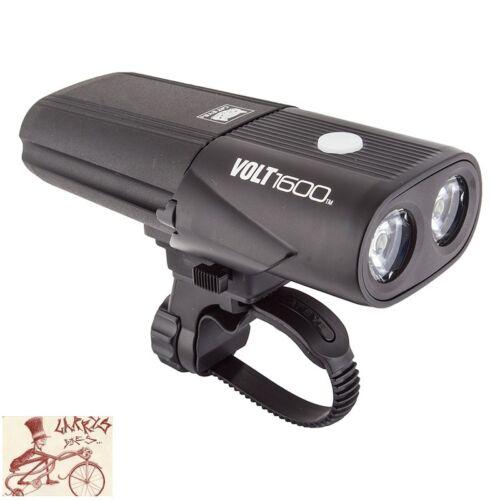 CATEYE  HL-EL1010RC VOLT 1600 FRONT BLACK BICYCLE LIGHT USB RECHARGEABLE