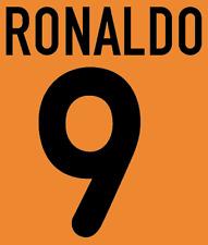 Inter Milan Ronaldo Nameset Shirt Soccer Number Letter Heat Print Football A 00