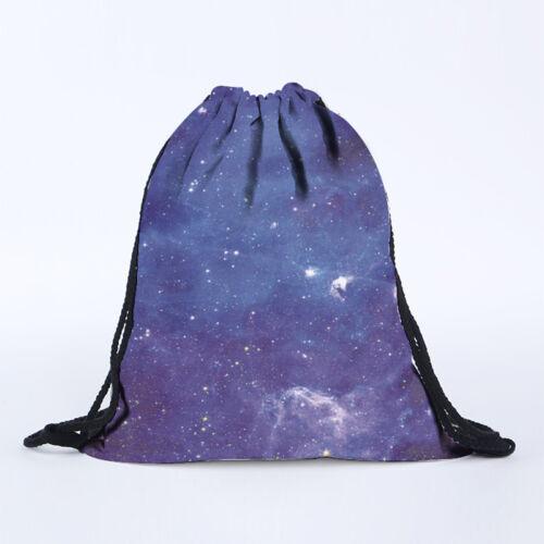 String Drawstring Sack School Sport Backpack PE Shoes Swimming Book Shoulder Bag