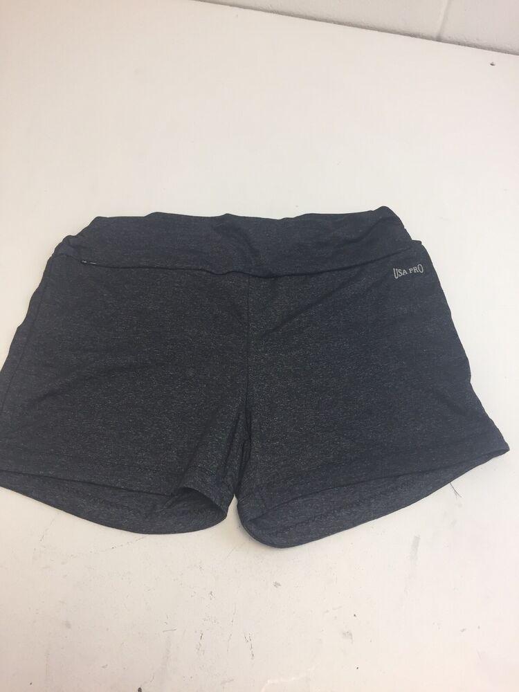 N635 Usa Pro Black Yoga Shorts, Taille 12