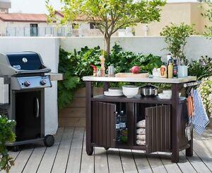 Garden Bbq Bar Table Outdoor Patio Furniture Party Kitchen Shelf ...