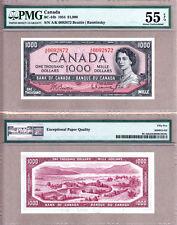 1954 $1000 Bank of Canada QE2 Portrait. Beattie & Rasminsky BC-44b. PMG AU55 EPQ