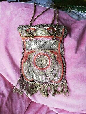 Antike Beutel Tasche Mit Brokat