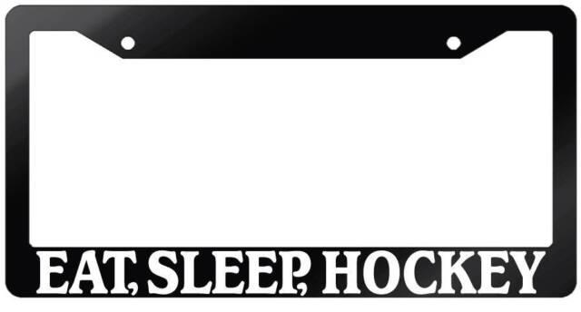 Black License Plate Frame Eat JDM Auto Accessory Sleep