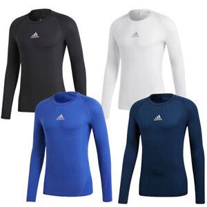 Men Adidas Alphaskin Sport Top Long Sleeve Jersey Climacool ...