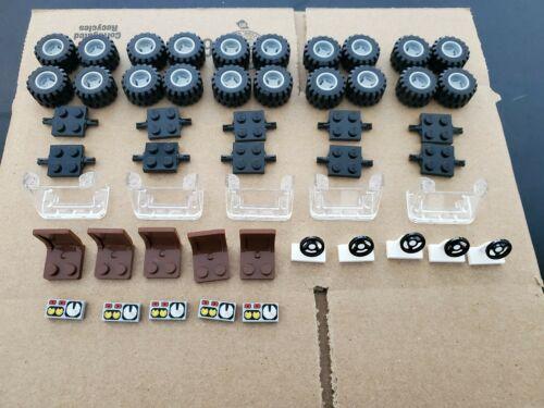 Lego Tires Steering Wheels Seats Axles 100/% Lego Brand Bulk Pieces Car Parts Lot