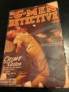 G-MEN-DETECTIVE-Feb-1946-Thrilling-Publication-crime-pulp-VG-Tommy-Gun-cv