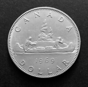 1969-Canadian-1-Dollar-Canada-Nickel-Coin-One