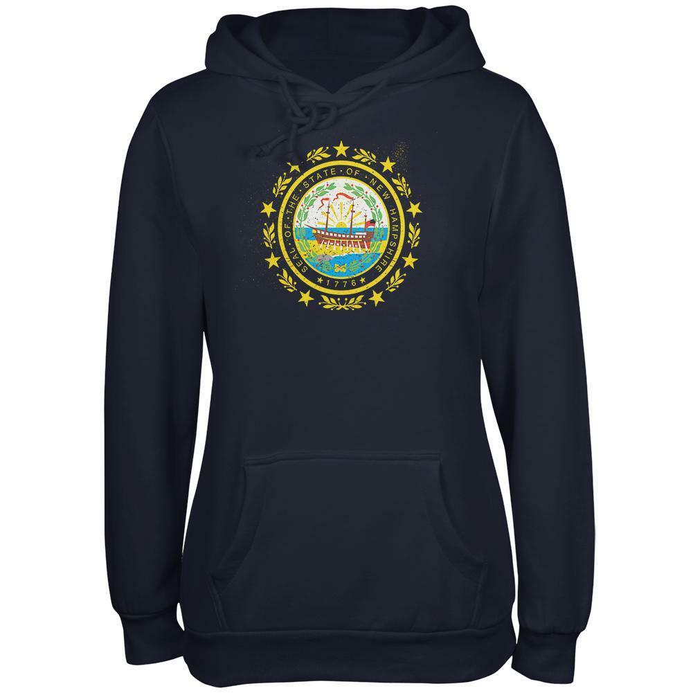 Born and Raised New Hampshire State Flag Juniors Soft Hoodie