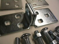 Ace Center Hole Hasp 5-1/2 High Security Steel Hasp W/ Backer Plates & Bolts