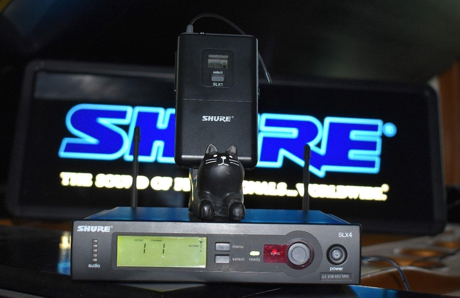 Shure SLX14 UHF Wireless Body Pack System SLX1 SLX4