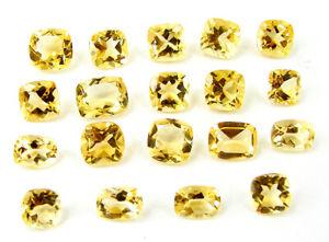 25-30-Ct-Natural-Citrine-Loose-Gemstone-Cushion-Cut-Lot-of-19-Pcs-Stone-32669