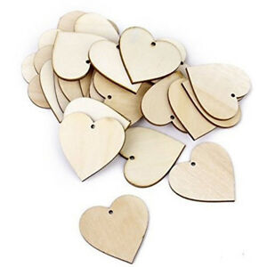 50pcs-Hearts-Wooden-Blank-Craft-Embellishment-Heart-Decoration-30mm-SS