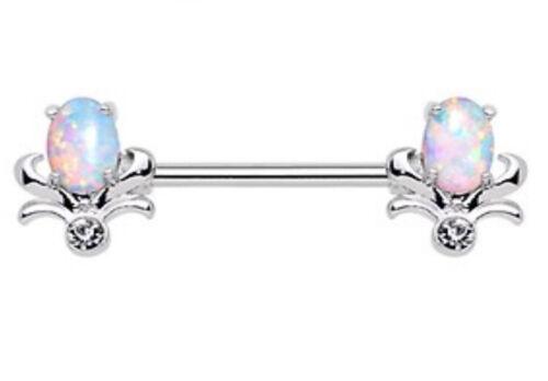 Opal Tulip Nipple Bar Barbell 1.6mm x 14mm