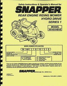snapper 381451hbve owner's manual riding mower | ebay cub cadet ltx 1040 mower schematics