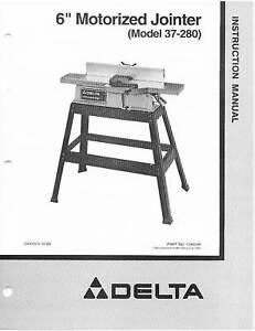 Delta-Jointer-Model-37-280-Instruction-Manual