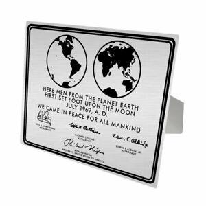 NASA Moon Landing Plaque Replica Aluminum Print