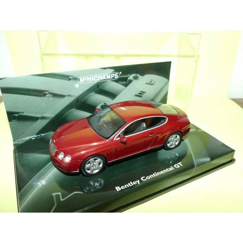 BENTLEY CONTINENTAL GT 2003 Bordeaux MINICHAMPS 1 43