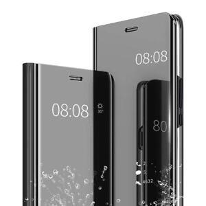 Cover-per-SAMSUNG-GALAXY-J6-2018-J6-PLUS-specchio-LIBRO-MIRROR-STAND-Clear-View