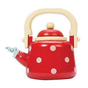 """Le Toy Van TV312 Teekessel """"Dotty Kettle"""" Holz für Kinderküche NEU!     #"""
