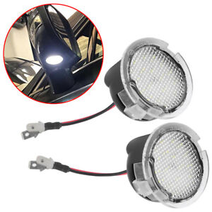 2pcs High Power White Led Side Mirror Puddle Lights For