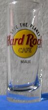 Hard Rock Cafe Tall Shot Glass Save The Planet Maui Hawaii black letters