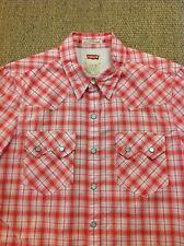 ef09dc1398 Levi s Barstow Western Short Sleeve Dark Red Check Shirt 65817-0098 ...