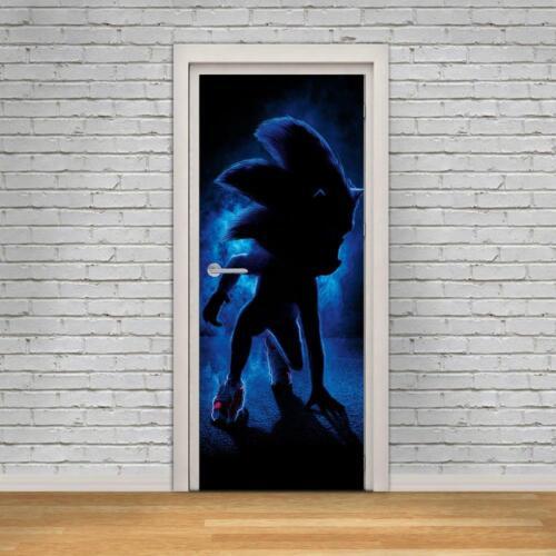 Sonic The Hedgehog Movie 3D DOOR WRAP Decal Wall Sticker Decor Mural Art D306