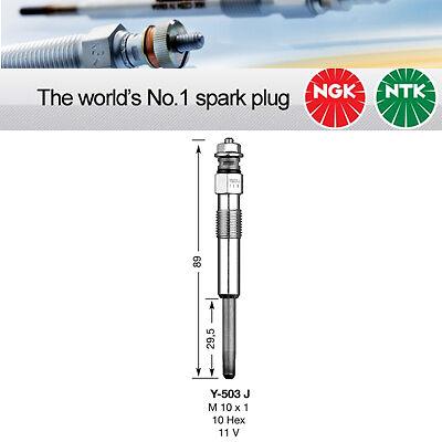 NGK Y-503J//Y503J//5005 rivestiti CANDELETTA Confezione da 4 componenti originali NGK