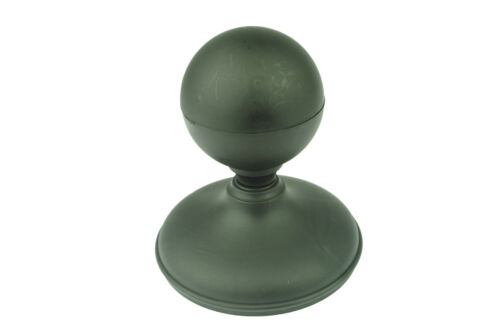 """Linic 1 x Black Sphere Fence Top Finial 4/"""" 100mm ROUND Post Cap UK Made GT0019"""