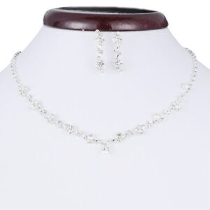 Casual-Bridesmaid-Crystalecklace-Earrings-Wedding-Bridal-Jewellery-s