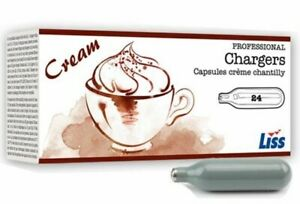 Liss Cream Chargers N2O Whip Boxes of 24 8g /& Dispenser Canisters Whipped