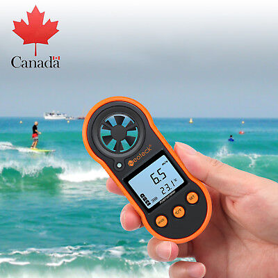 Digital Handheld Anemometer Thermomoter Wind Speed Meter For Surfing Sailing NEW