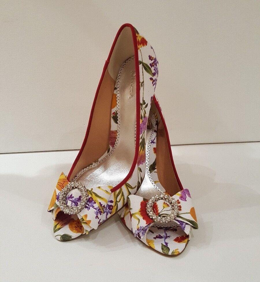 Was  size 7.5 (40) bourne elegant floral peep-toe shoes heels