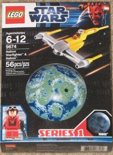 Lego Star Wars Set 9674 NABOO STARFIGHTER /& NABOO NIB Series 1