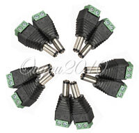 10x 5.5mm X 2.1mm DC Power Male Jack Connector Adapter Plug For CCTV DVR Camera