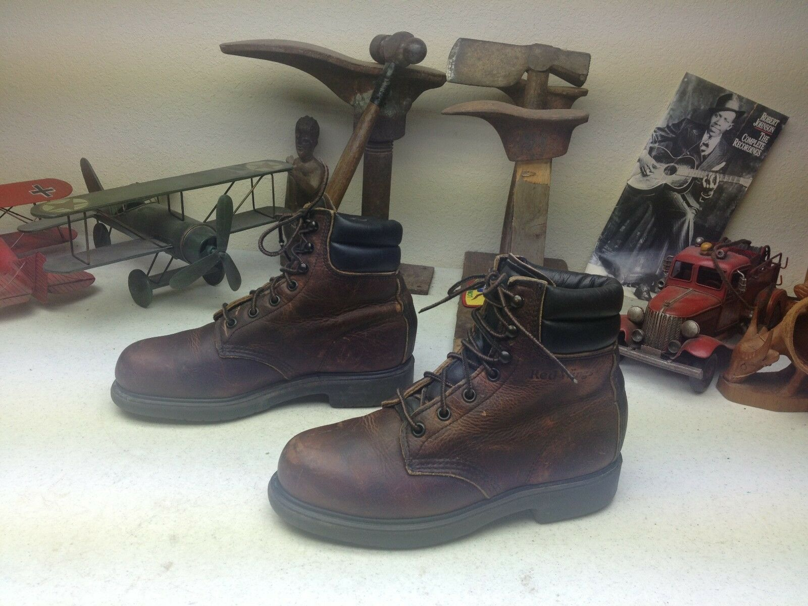 rot WING STEEL TOE ENGINEER LACE UP MADE MADE MADE USA VINTAGE LEATHER BOSS Stiefel 6 D 6330ef