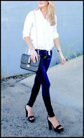 Banana Republic S White Cotton Tie Front Top Blouse Small 4 6 Shirt