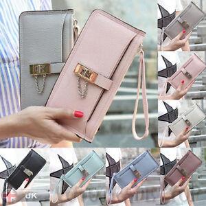 Women-039-s-Ladies-Faux-Leather-Long-Wallet-Purse-Card-Holder-Case-Purse-Handbag-Lot