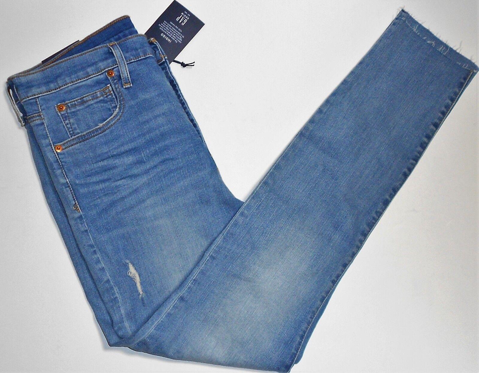 GAP Denim Stretch Indigo True Skinny Ankle Pants Jeans Sz 31 NWT