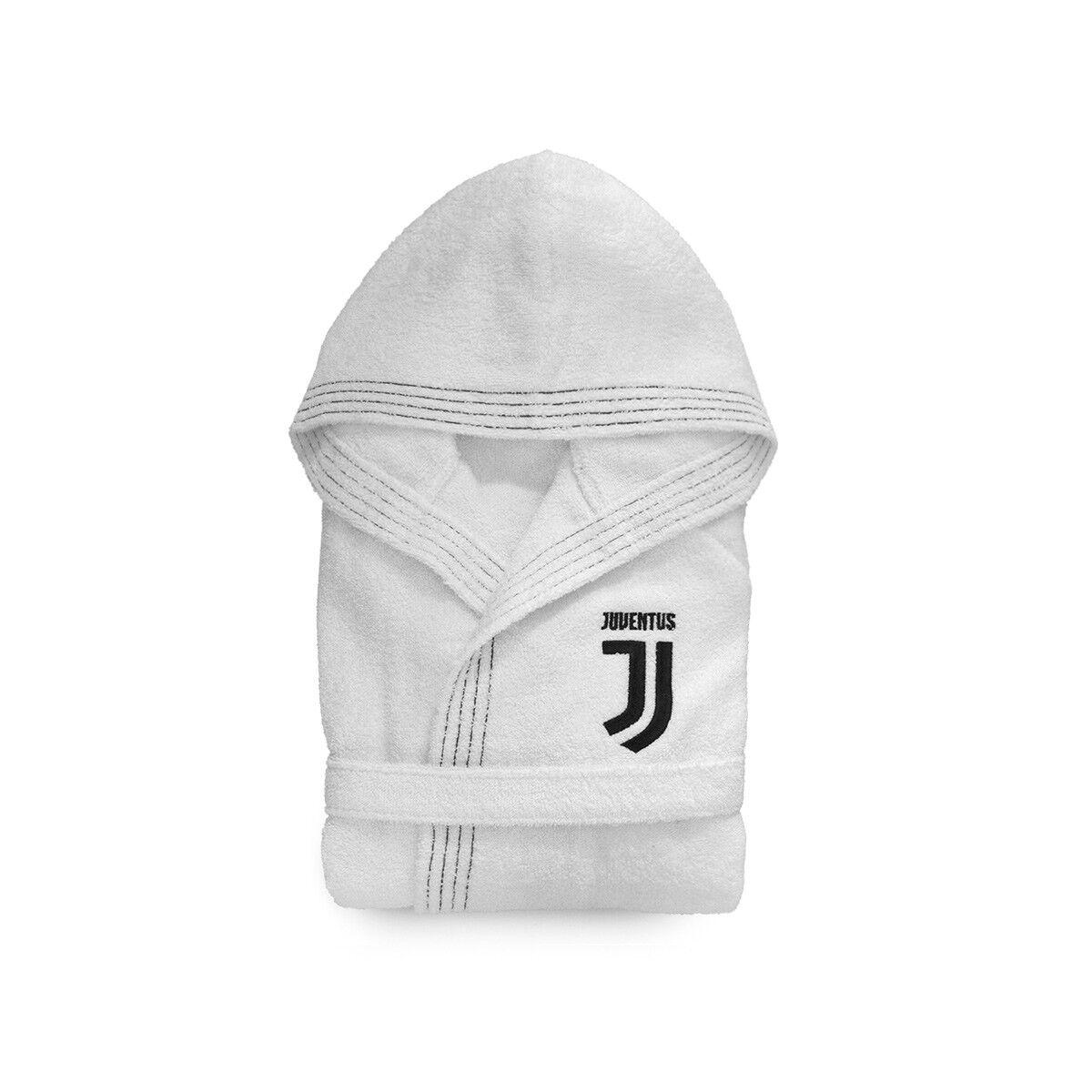 Bademantel Juventus Juve offiziell für Kind Junge in Schwamm R359   | Schöne Kunst